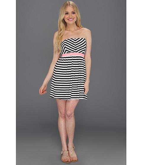 Rochii Roxy - Now You See It Dress - True Black Stripe