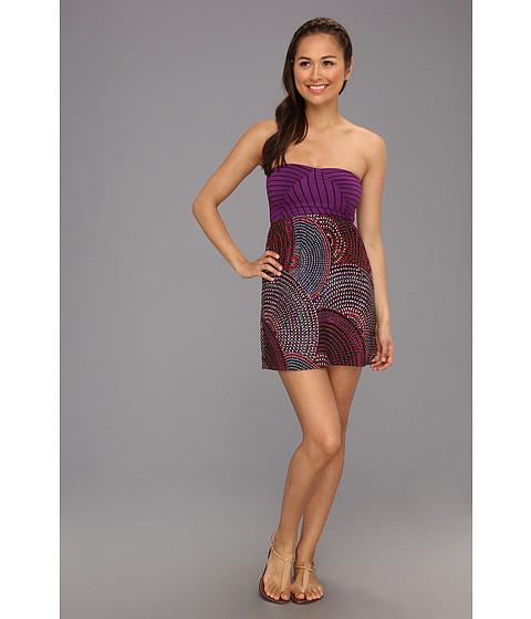 Rochii Roxy - Savage 2 Dress - True Black Circular Dot Print