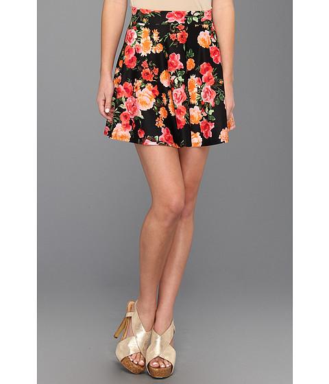 Pantaloni Gabriella Rocha - Jeanne Floral Print Flare Skirt - Black