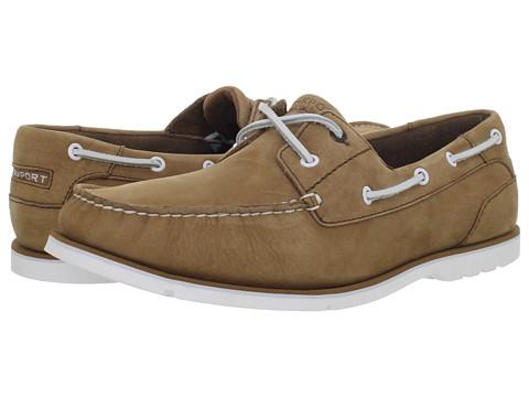 Pantofi Rockport - Summer Tour 2 Eye Boat Shoe - Caramel Nubuck/White