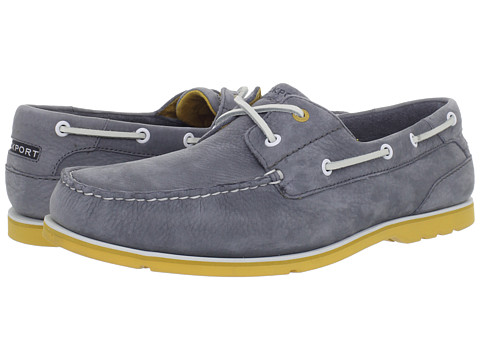 Pantofi Rockport - Summer Tour 2 Eye Boat Shoe - Grey Nubuck/Yellow