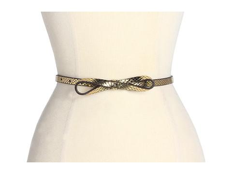 Curele Lodis Accessories - Crystal Cove Skinny Bow High Waist - Bronze