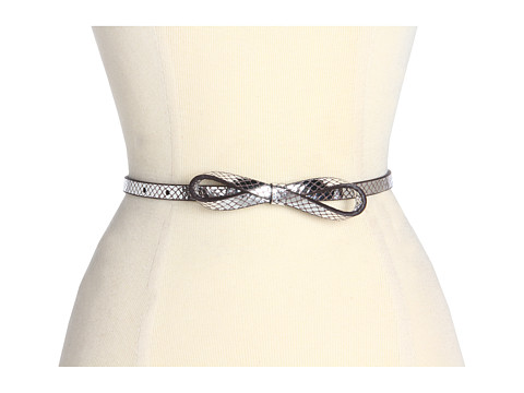 Curele Lodis Accessories - Crystal Cove Skinny Bow High Waist - Pewter