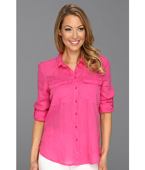 Tricouri Calvin Klein - Casual Buttonfront Top - Jaipur Pink