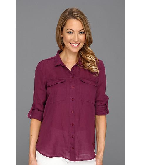 Tricouri Calvin Klein - Casual Buttonfront Top - Purple Current