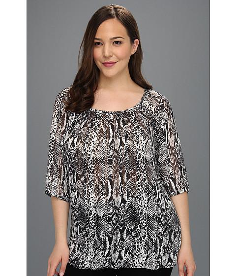 Bluze Karen Kane - Plus Size Three Quarter Blouson Top - Print