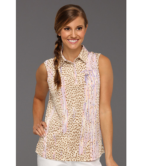 Bluze DKNY - Animal Print Sleeveless Top - Wheat