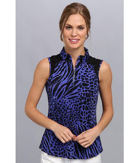 Bluze DKNY - Animal Print Sleeveless Top - Bahama Blue