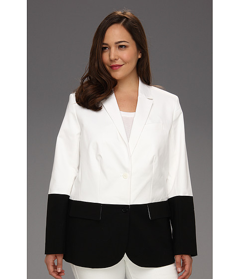 Jachete Michael Kors - Plus Size Structured Chop Boy Blazer - White