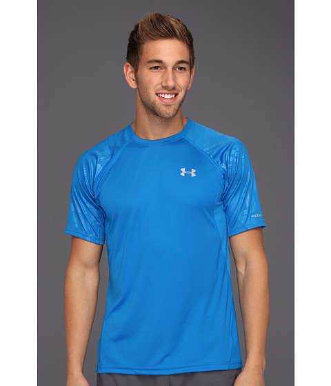 Tricouri Under Armour - coldblackî Engage Run T-Shirt - Snorkel/Snorkel/Reflective