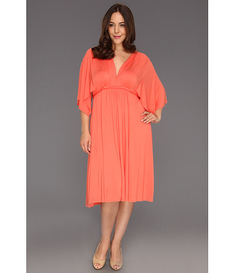 Rochii Rachel Pally - Plus Size Knee Length Caftan - Apricot