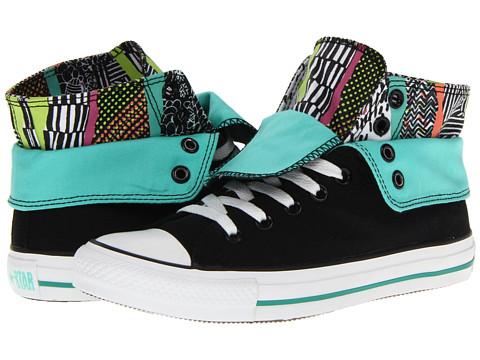 Adidasi Converse - Chuck Taylorî All Starî Two-Fold Hi - Black/Multi Hyperculture Print