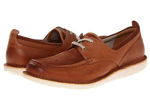 Pantofi Rockport - ES Boat Moc - Tan/Dress Blue