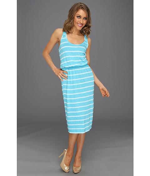 Rochii Michael Stars - Hampton Stripe Scoop Midi Dress - Neptune