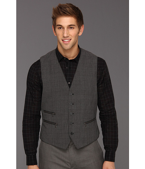 Jachete John Varvatos - 5 Button Jacket with Zip Pockets - Blackened Pewter