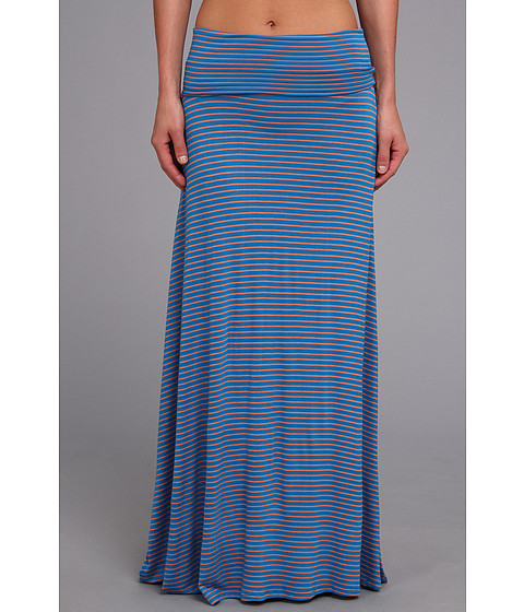 Fuste Culture Phit - Clare Stripe Maxi Skirt - Blue/Pink