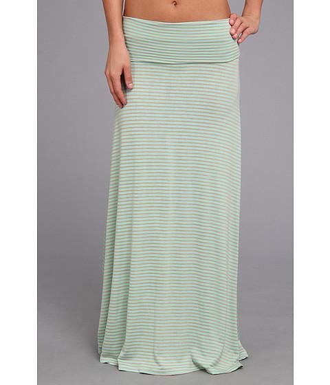 Fuste Culture Phit - Clare Stripe Maxi Skirt - Mint/Taupe