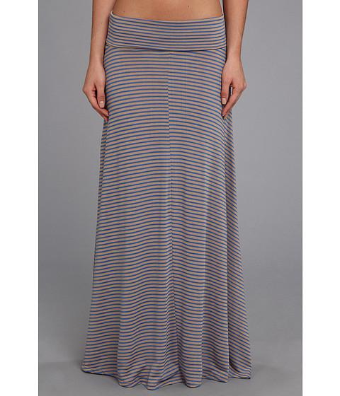 Fuste Culture Phit - Clare Stripe Maxi Skirt - Taupe/Blue