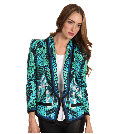 Sacouri Just Cavalli - Atlantis Print Cotton Blazer - Aqua