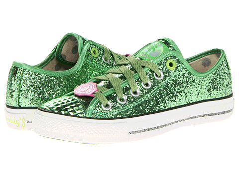 Adidasi SKECHERS - Gimme Low - Glitter Explosion - Green