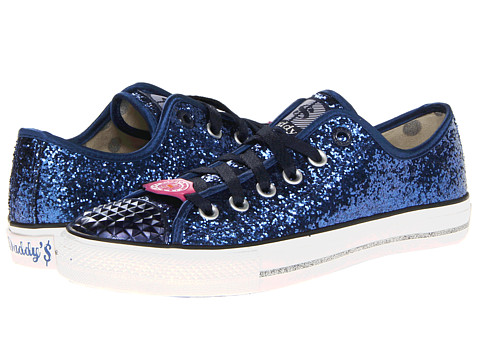 Adidasi SKECHERS - Gimme Low - Glitter Explosion - Navy