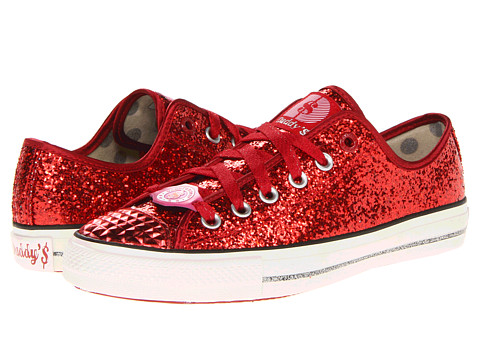 Adidasi SKECHERS - Gimme Low - Glitter Explosion - Red