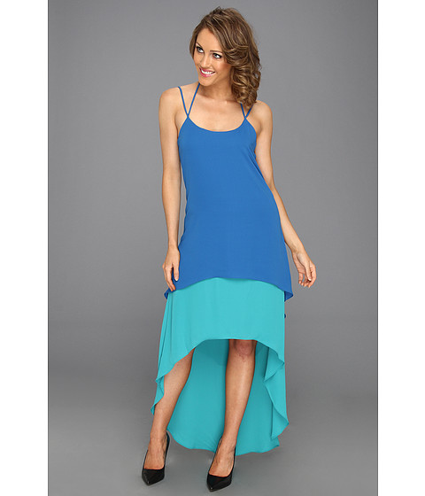 Rochii Max and Cleo - Tricia Two Tone High-Low Dress - Peacock Teal