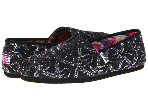 Adidasi SKECHERS - Bobs - Giving Tree - Black