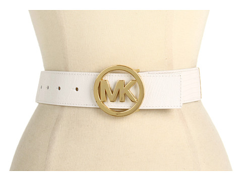 Curele Michael Kors - Michael Kors 42MM MK Logo On Stretch Straw - White