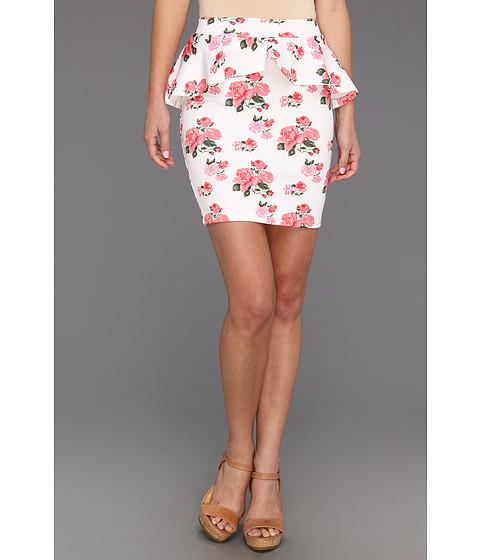 Pantaloni Gabriella Rocha - Luce Floral Scuba Peplum Skirt - White