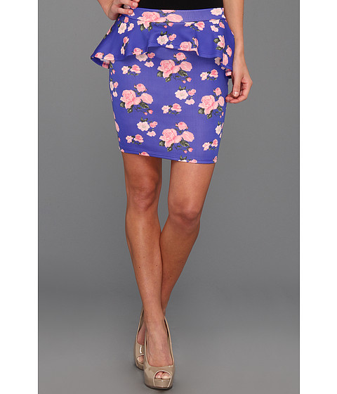 Pantaloni Gabriella Rocha - Luce Floral Scuba Peplum Skirt - Royal