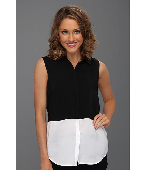 Tricouri DKNY - Sleeveless Band Collar Button Up - Classic White