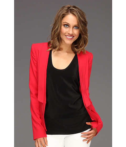 Jachete BCBGMAXAZRIA - Alex Layered Lapel Jacket - Lipstick Red