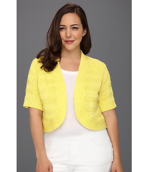 Tricouri Calvin Klein - Plus Size Three Quarter Sleeve Circle Shrug - Lemon Drop