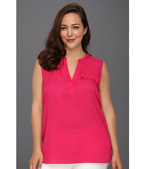 Tricouri Calvin Klein - Plus Size Solid Mixed Media - Hibiscus