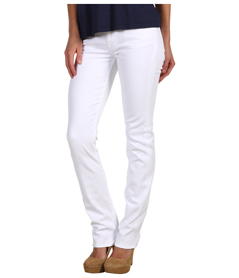 Blugi 7 For All Mankind - Kimmie Straight Leg w/ Contoured Waistband in Clean White - Clean White