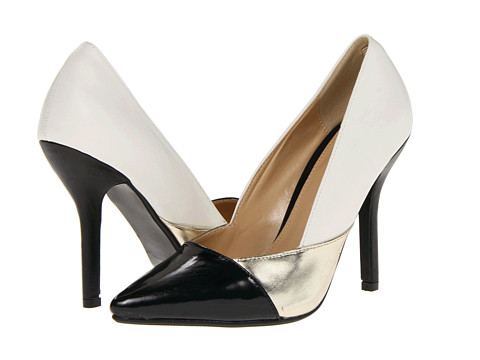 Pantofi C Label - Luxe-10 - White/Gold/Black