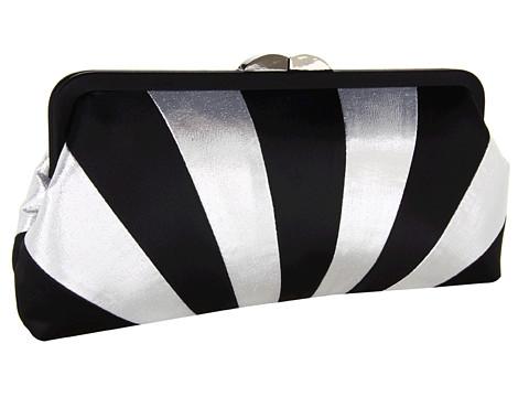 Posete Franchi Handbags - Ileana Clutch - Black/Silver