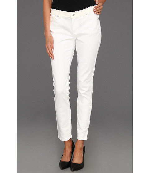 Blugi Michael Kors - Crop Skinny Jean W/ Tweed - White