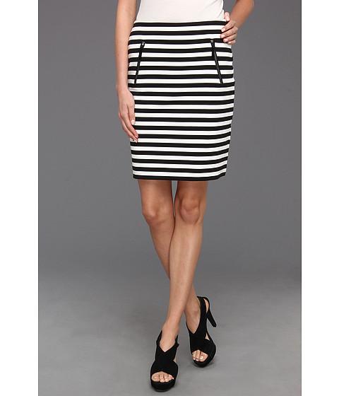 Fuste Michael Kors - Ponte Stripe Zip Pocket Skirt - Black
