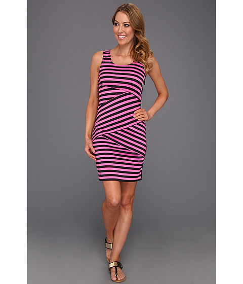 Rochii Michael Kors - Fulham Stripe Dress - Neon Pink