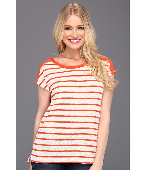 Bluze Lucky Brand - Seanna Striped Dolman Top - Orange Stripe