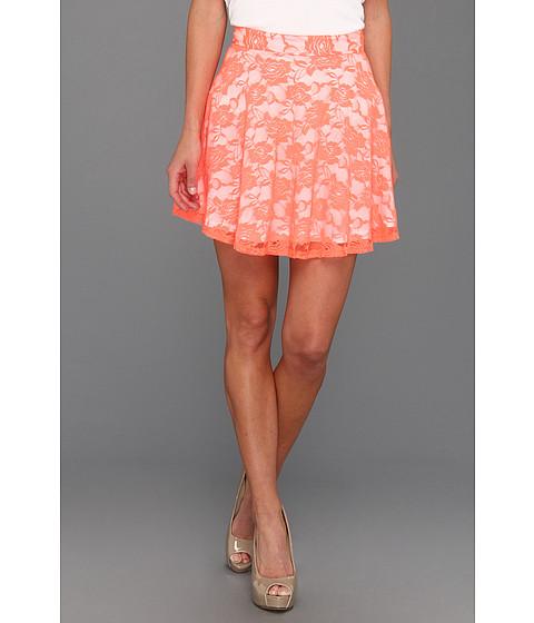 Pantaloni Gabriella Rocha - Avril Lace Flare Skirt - Neon Orange