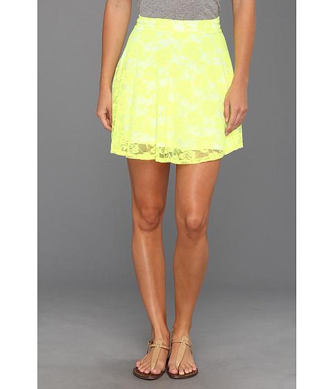 Pantaloni Gabriella Rocha - Avril Lace Flare Skirt - Neon Yellow