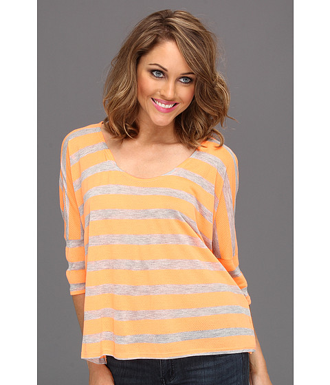 Bluze Gabriella Rocha - Dielle Stripe Box Top - Neon Orange