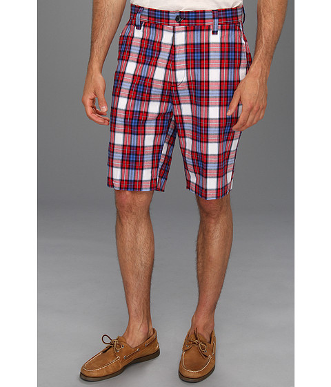Pantaloni Nautica - Plaid Poplin Short - Tango Red