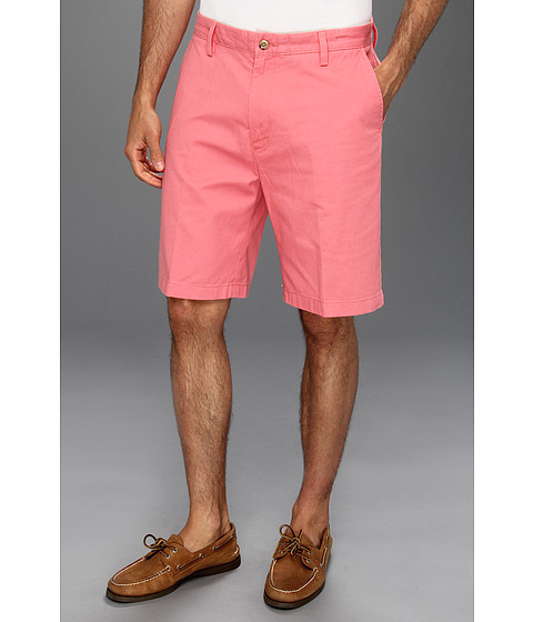 Pantaloni Nautica - Twill Cotton Flat Front Short - Seaport Salmon