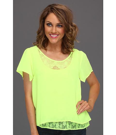 Tricouri Gabriella Rocha - Claudette Layered Top - Neon Yellow