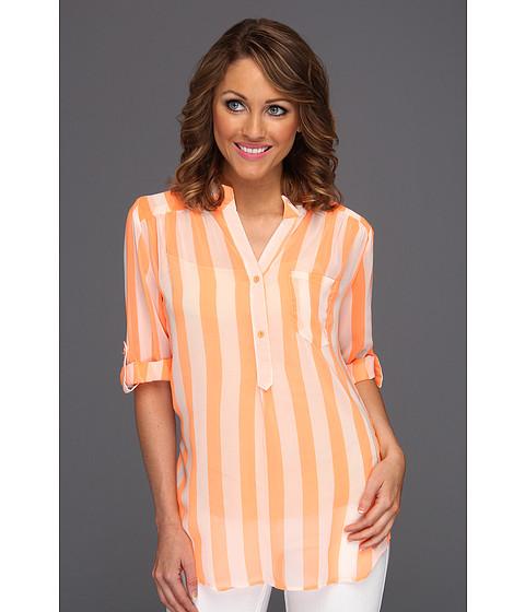 Bluze Gabriella Rocha - Maryse Stripe Chiffon Blouse - Neon Orange