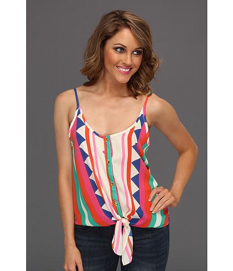 Tricouri Gabriella Rocha - Courtland Tie Chiffon Tank Top - Pink Multi